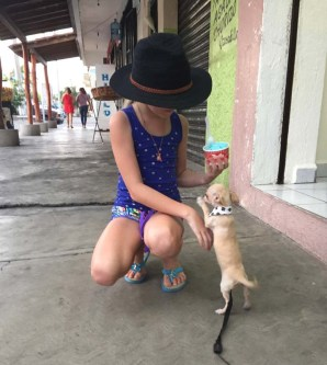 Smallest puppy ever - that is a 10 yo child, just for scale