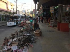 Um, construction waste in the streets
