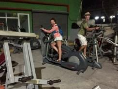 A late night ride on an elliptical - HA!