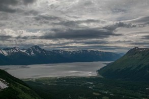 View of Turnagain Arm from the top of the tram