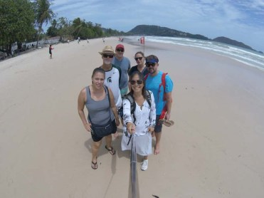 Travel family on Patong Beach