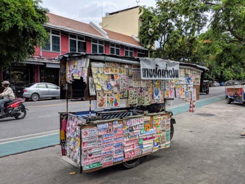 There's a street cart for everything, including stickers