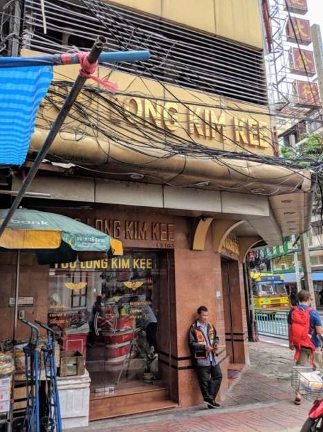 A street corner in Chinatown