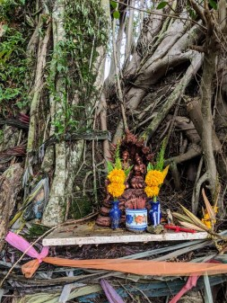 This mini-shrine was in a random tree on our way to Monkey Hill
