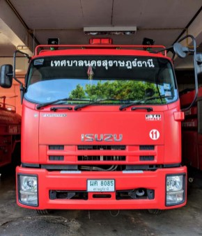 Fire engine in Surat Thani