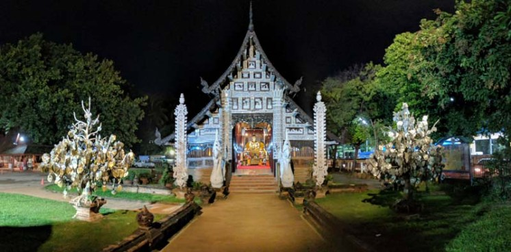 Nighttime temple