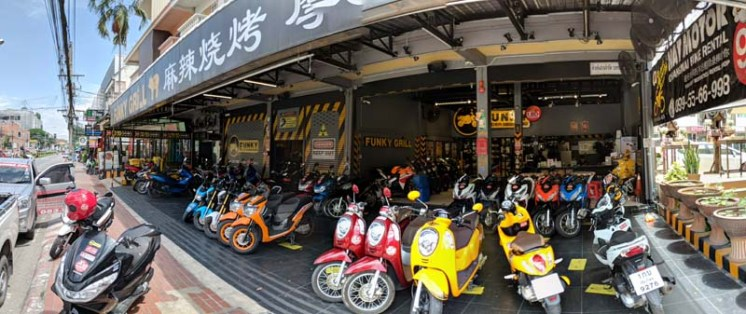 Scooter rental/sales by day