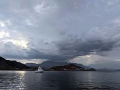 Cloudy skies in Candeleros