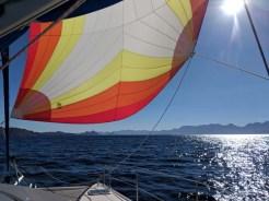 Under the pretty sail