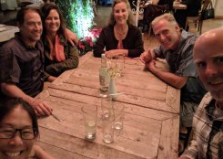 Dinner with Greg and Marga of Dogfish and Mike and Nancy of Shanti...yay!