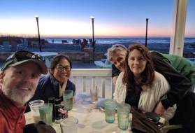 Dinner and sundowners at South Beach