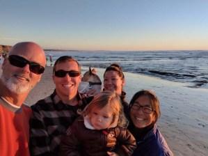 Carlsbad beach with Triple J