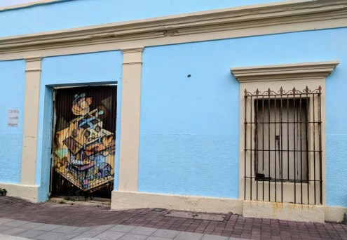 Wall art in old town