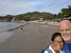 Beach walk in Cuastecomates