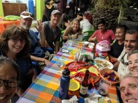 Back in Barra for dinner with Vannie, the crews of Volaré, Opa, and Shanti