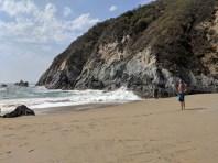 Rand contemplating a dip at Secret Beach