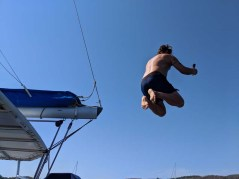 Jeff's turn for a cannonball