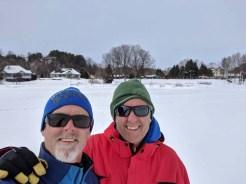 A walk across the frozen bay