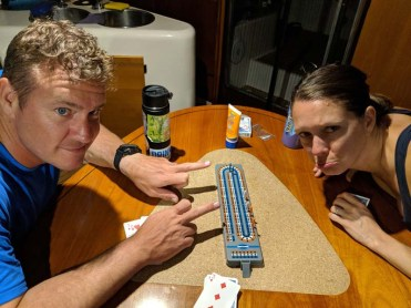Last game of cribbage - I kicked their asses