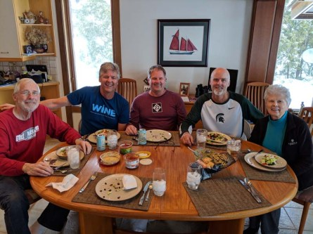 Fraser family breaky - so happy to be together