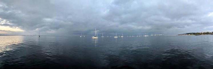 Moody morning over the La Cruz anchorage