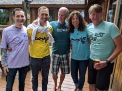 Pig Fest reunion - Jim, Howie, Michele, Stan