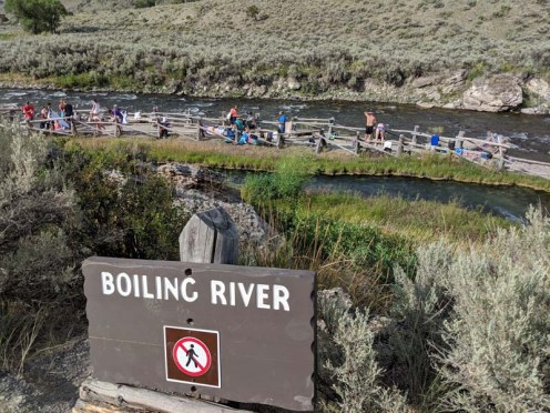 The famous (and popular) Boiling River