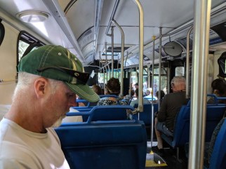 Bus ride back to downtown