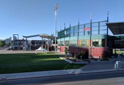 Reno Aces field, conveniently located across the street from the Mellow Fellow Bar & Grill