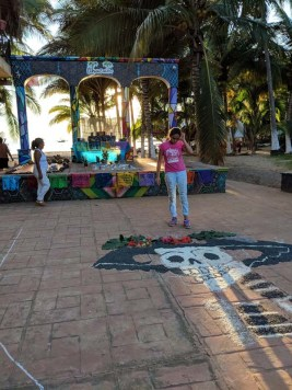 Preparations for Dia de Los Muertos