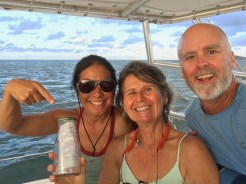 Deb wanted to release a message in a bottle, so we did