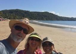 Chacala beach selfie