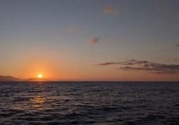 Leaving Caleta de Campos on a rising sun