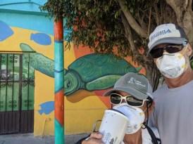 Lots of new wall art in La Cruz
