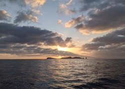 Sunset approach to Isla Isabel