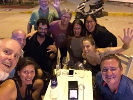 New Year's Eve in La Cruz with crews of S/Vs Danika, Ellie, SNL, plus Tannika and Mathieu (terrestrial nomads), December 2016