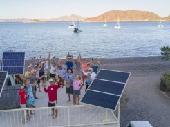 West Coast Multihulls Rally gathering in Juncalito, May 2017 (PC Ryan on drone)