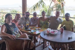 After-hike margaritas at The View in Colimilla, February 2018