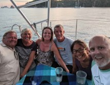 Another happy hour aboard FL with S/Vs Cake and Liahona, January 2020