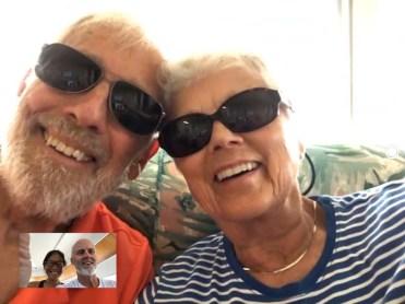 Fraser parents on FaceTime