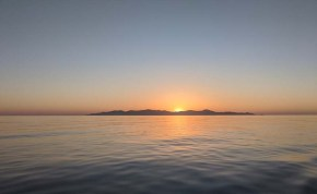 Sunrise over Monserrat during the last hours of our crossing