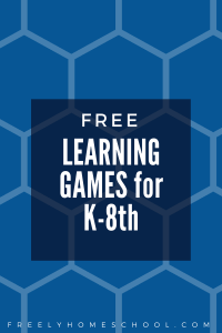 Free Learning Games for K-8th