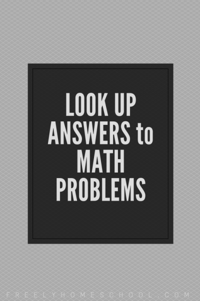 find the answer to any math problem