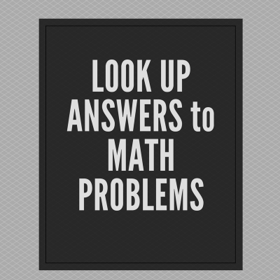 Look Up Free Answers to Just About Any Math Problem