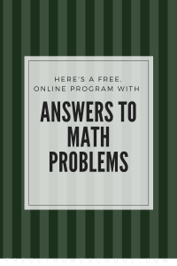 Free Online Program to Look Up Answers to Math Problems