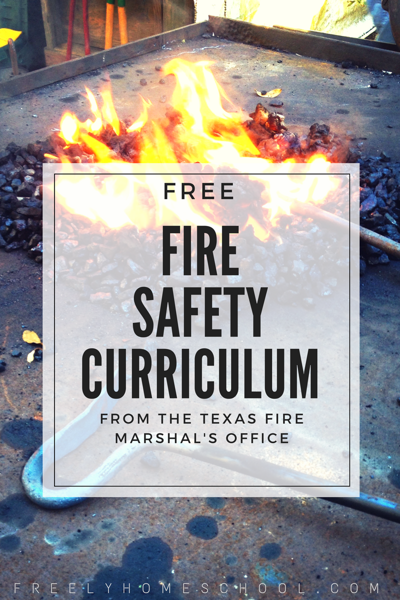 Free Fire Safety Curriculum from the Texas Fire Marshal's Office