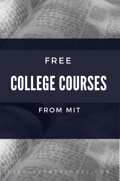 Free College Courses from MIT