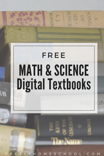 Free STEM Math and Science Digital Textbooks