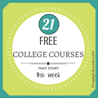 21 Free College Courses that Start This Week