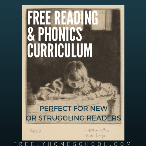 Free Reading & Phonics Program – perfect for beginning or struggling readers